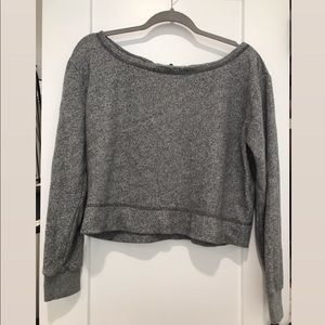 Abercrombie & Fitch soft cropped grey sweater